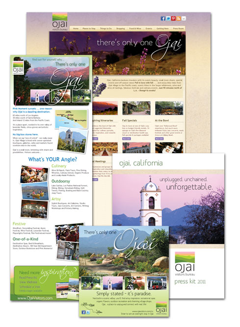 Press Kit, Website, Advertising, Enews, Ojai